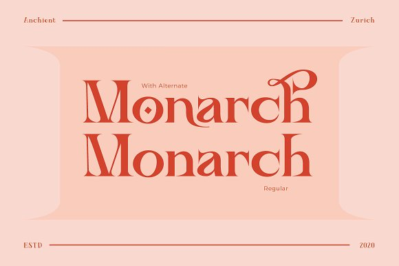 Ancient Zurich - Elegant Serif Logo in Display Fonts - product preview 3