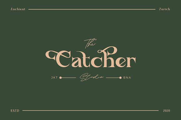 Ancient Zurich - Elegant Serif Logo in Display Fonts - product preview 4
