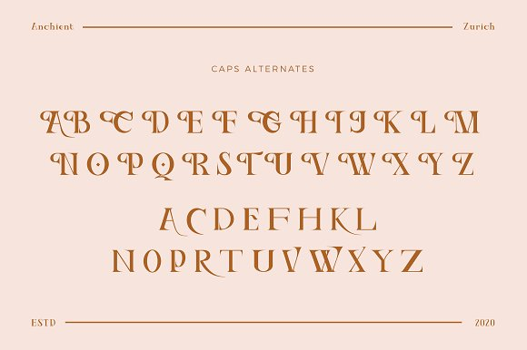 Ancient Zurich - Elegant Serif Logo in Display Fonts - product preview 6