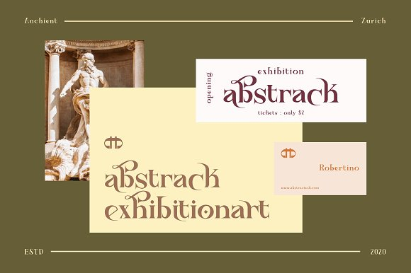 Ancient Zurich - Elegant Serif Logo in Display Fonts - product preview 8