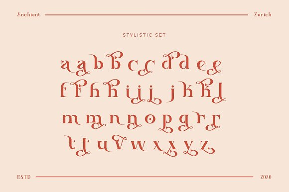 Ancient Zurich - Elegant Serif Logo in Display Fonts - product preview 10