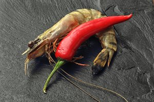 Giant Prawn and Chili