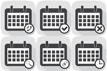 Set Icons calendar different icons