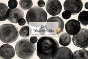 Black Watercolor Circles