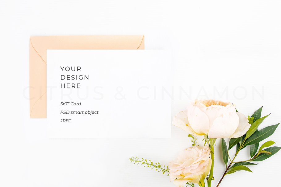 5x7 Card & Invitation Mockup 1909B
