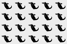 Black dragons pattern