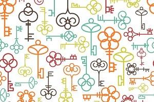 Line keys seamless pattern