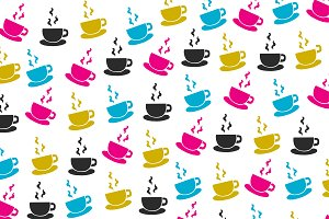 Color coffee pattern
