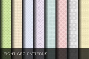 8 Geometric patterns + vector PSDs