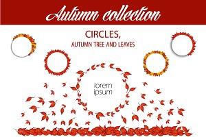 Autumn bundle collection of circles