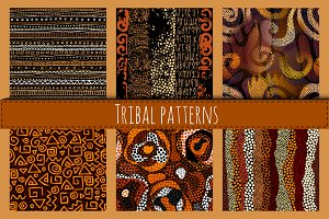 Seamless ethnic patterns.
