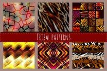 Tribal animal patterns.