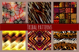 Tribal animal patterns.