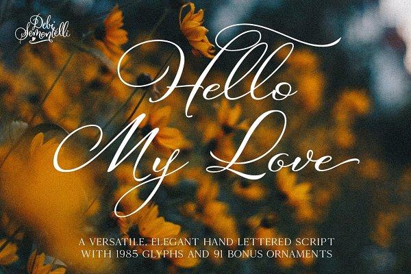 Hello My Love Pro Script Font
