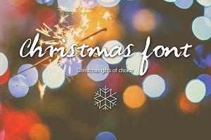 Christmas font-Handwritten font