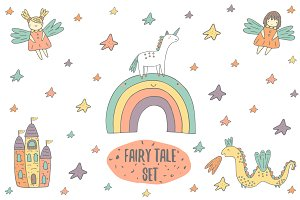 Fairy tale objects set