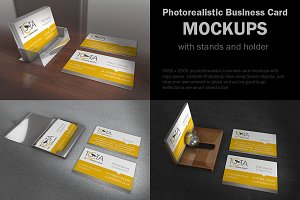 Business Card Mock w Stands/Holder