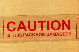 Industrial Package with Caution Sign