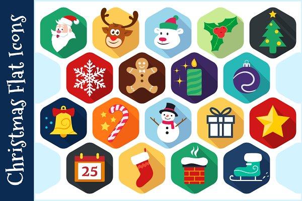 Christmas Flat Icons - Vector