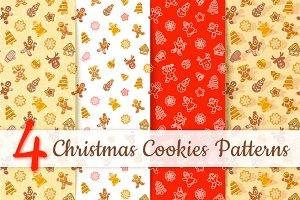 Christmas Cookies Seamless Pattern