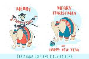 Merry Christmas illustrations (2)