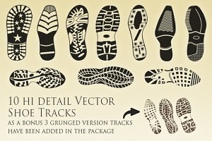 Vector Shoe Tracks Collection