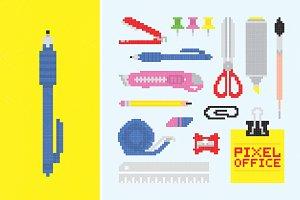Pixel office tools set