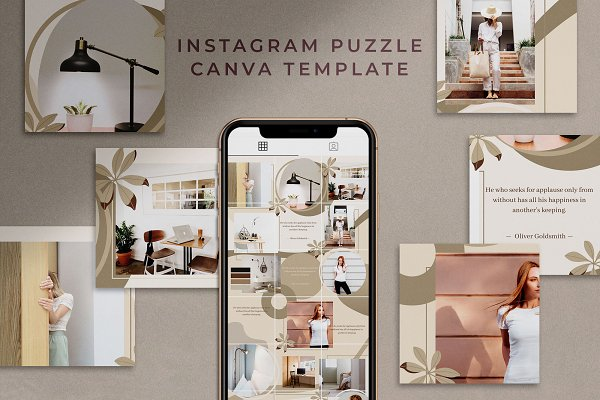 Instagram Puzzle for Canva | Mink
