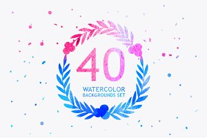 40 dreamy watercolor backgrounds