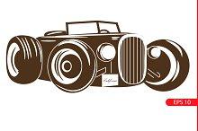 retro car. Vintage cars.