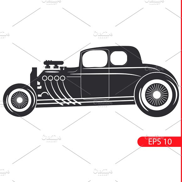 retro car. Vintage cars. - Objects