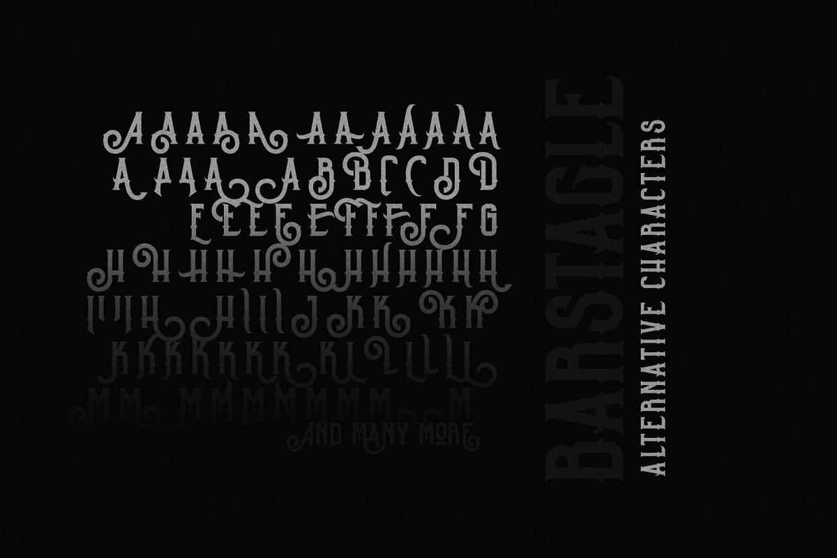 Barstagle in Serif Fonts - product preview 8