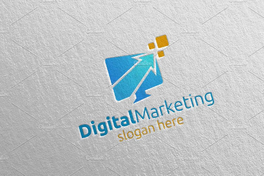 Digital Marketing Financial Logo 54