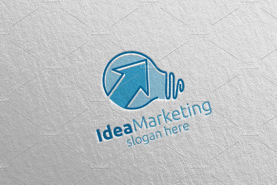 Idea Marketing Financial Logo 55