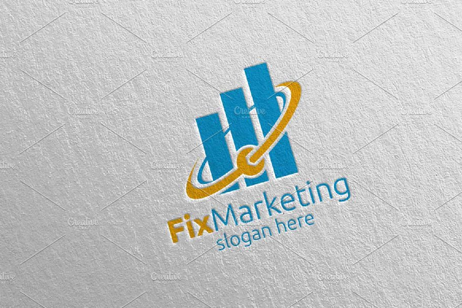 Fix Marketing Financial Logo 56