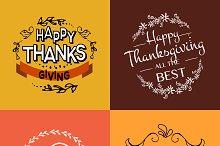 Thanksgiving Card Set