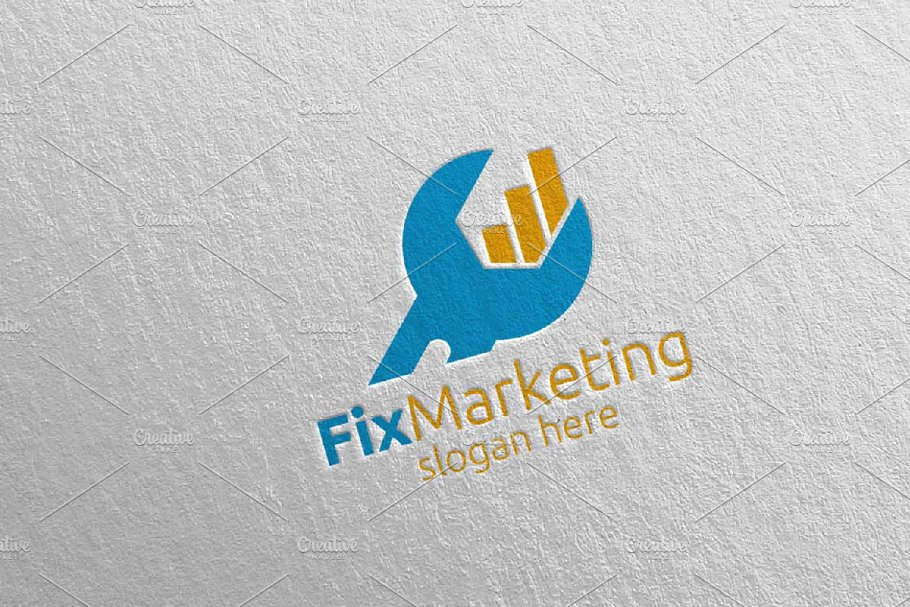 Fix Marketing Financial Logo 57