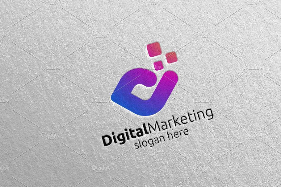 Digital Marketing Financial Logo 53