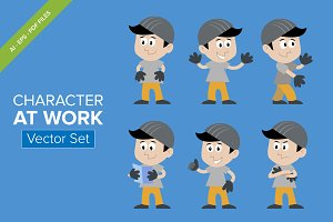 CHARACTER AT WORK - Vector Set
