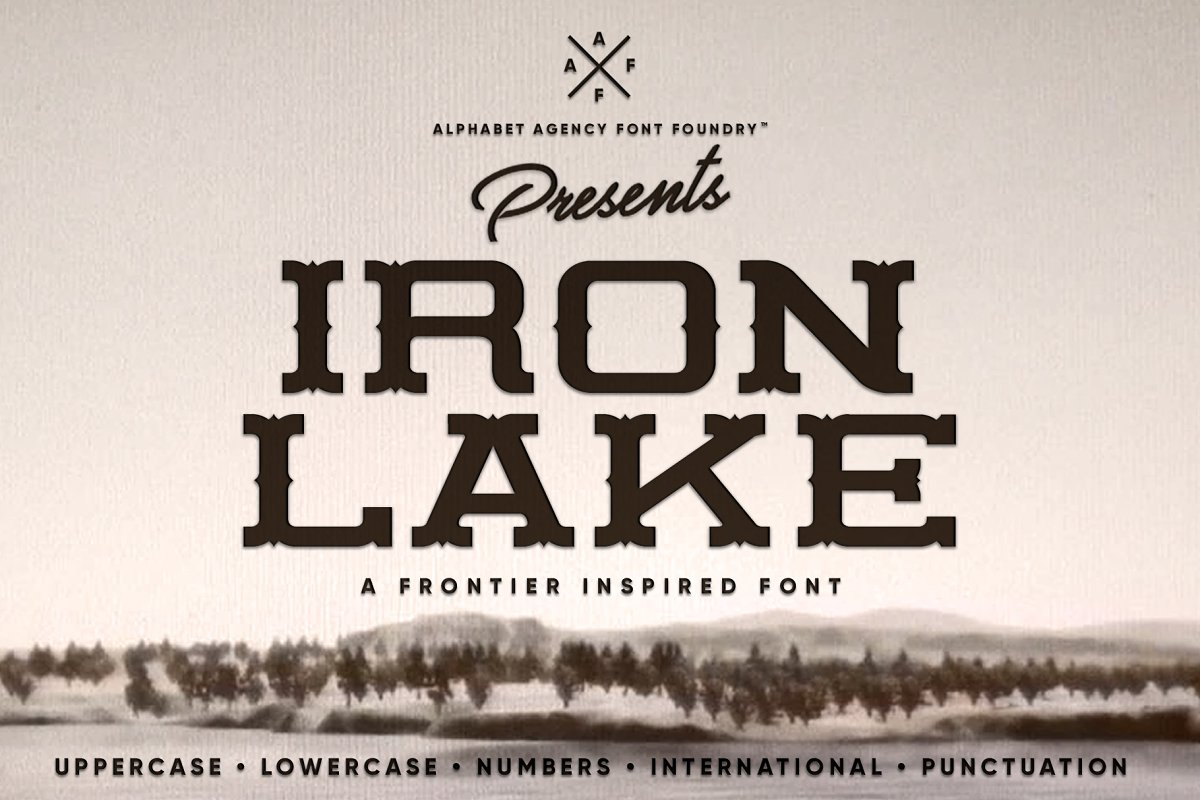 IRON LAKE FONT DUO