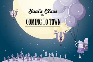 santa claus is coming to town vector