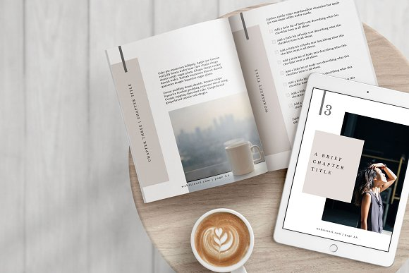 Workbook/eBook Canva Template | Mio in Magazine Templates - product preview 6