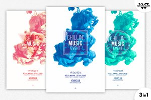 3in1 MINIMAL ABSTRACT Flyer Template