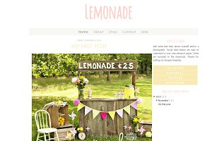 Lemonade Blogger Template