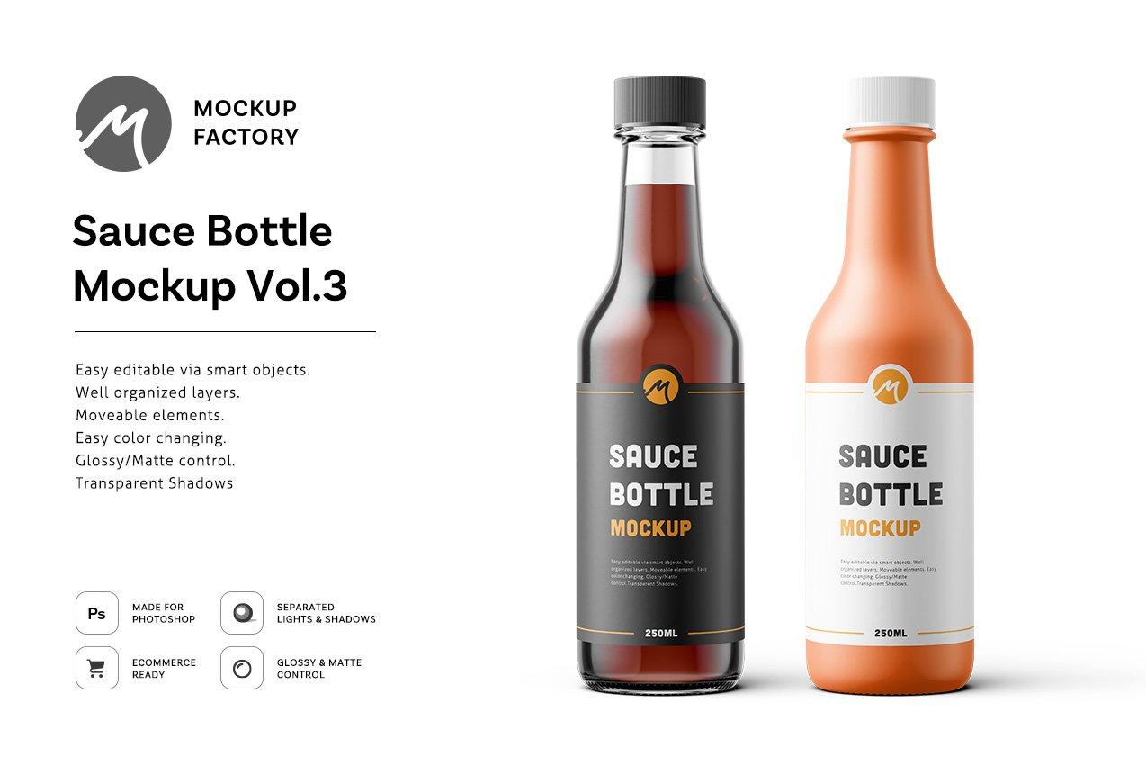 Sauce Bottle Mockup Vol.3   Creative Photoshop Templates ...