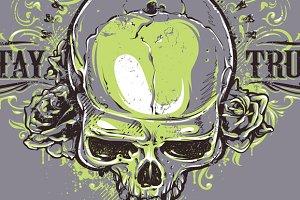 Grunge Skull Print #2