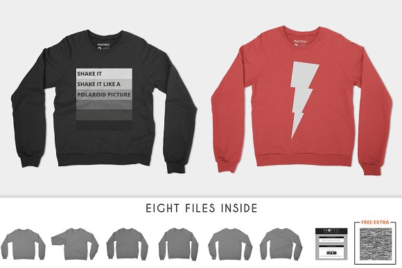Crew Neck Sweater - Apparel Mockups ~ Product Mockups ~ Creative Market