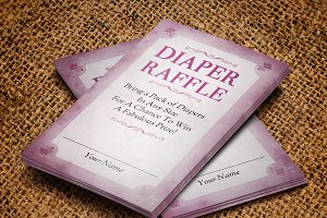 Diaper Raffle Card Template