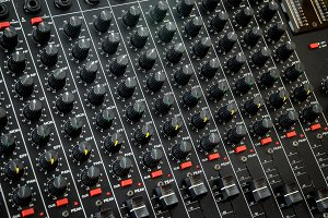 Vintage mixing console