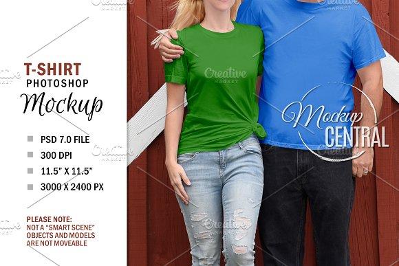 Couple T Shirt Mockup Free Download